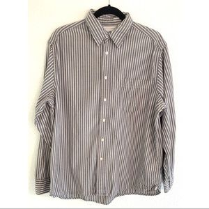 Wrangler men's striped collared shirt size large